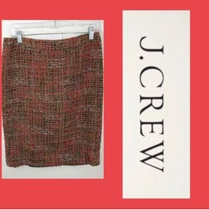 J. Crew Tweed Career Preppy Pencil Skirt Sz. 2